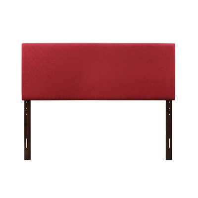 Albermarle Upholstered Panel Headboard Size: Twin, Upholstery: Red