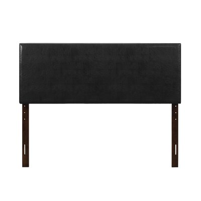 Albers Upholstered Panel Headboard Size: Twin, Upholstery: Black
