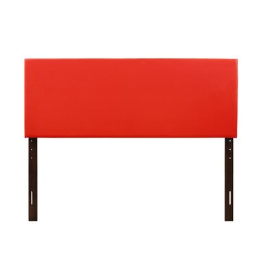 Albers Upholstered Panel Headboard Size: Twin, Upholstery: Light Red