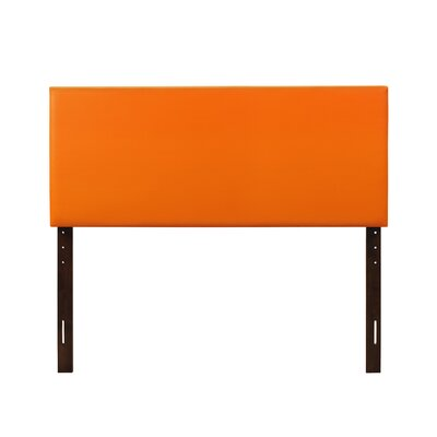 Albers Upholstered Panel Headboard Size: Full, Upholstery: Orange