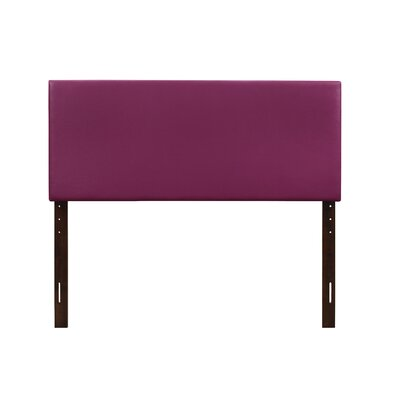 Albers Upholstered Panel Headboard Size: Twin, Upholstery: Purple