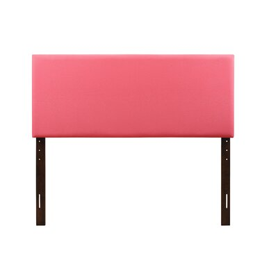 Albers Upholstered Panel Headboard Size: Full, Upholstery: Pink