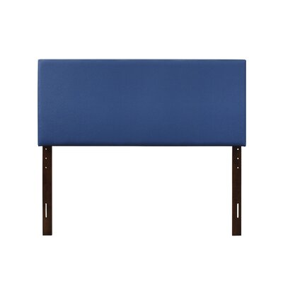 Albers Upholstered Panel Headboard Size: Twin, Upholstery: Blue