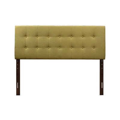 Albert Upholstered Panel Headboard Size: Full, Upholstery: Green