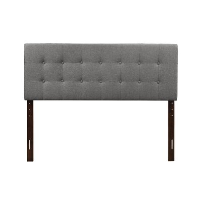 Albert Upholstered Panel Headboard Size: Twin, Upholstery: Gray