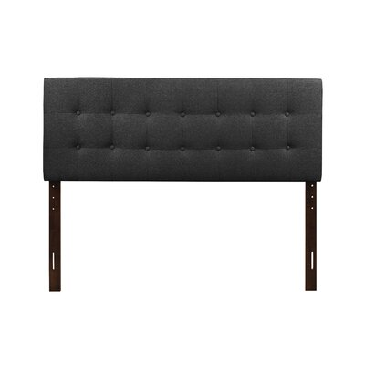Albert Upholstered Panel Headboard Size: Twin, Upholstery: Dark Gray