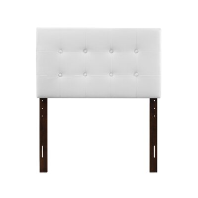 Albertina Upholstered Panel Headboard Size: Twin, Upholstery: Red