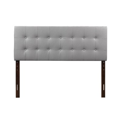 Albertina Upholstered Panel Headboard Size: King, Upholstery: Gray