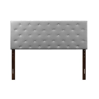 Albertine Upholstered Panel Headboard Size: Twin, Upholstery: Gray