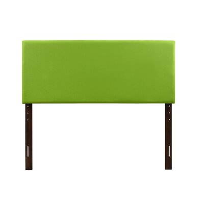 Albers Upholstered Panel Headboard Size: Twin, Upholstery: Green