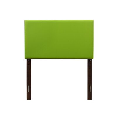 Albers Upholstered Panel Headboard Size: Full, Upholstery: Green