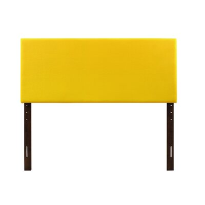 Albers Upholstered Panel Headboard Size: Twin, Upholstery: Yellow