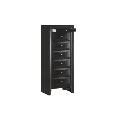 Harvel 7 Drawer Lingerie Chest Color: Black