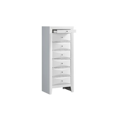 Harvel 7 Drawer Lingerie Chest Color: White