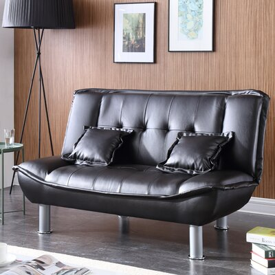 Hollymead Sleeper Convertible Loveseat Upholstery: Black
