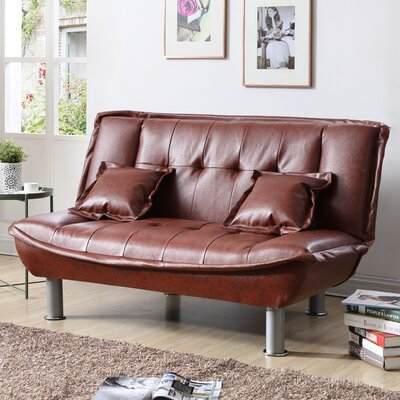 Hollymead Sleeper Convertible Loveseat Upholstery: Brown