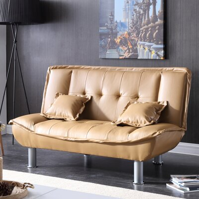 Hollymead Sleeper Convertible Loveseat Upholstery: Tan