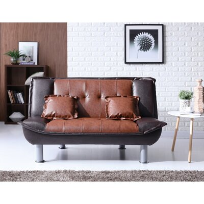 Hollymead Sleeper Convertible Loveseat Upholstery: Dark Brown/Brown