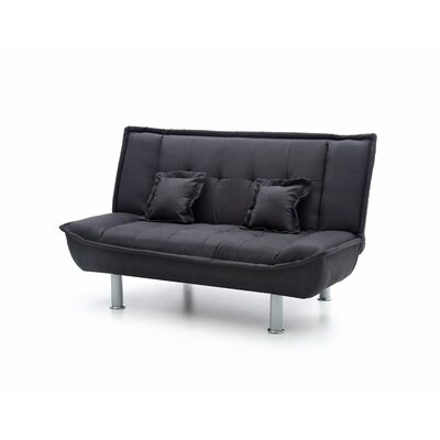Hertford Sleeper Loveseat Upholstery: Black