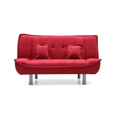 Hertford Sleeper Loveseat Upholstery: Red