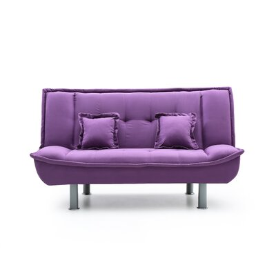 Kelath Sleeper Loveseat Upholstery: Purple
