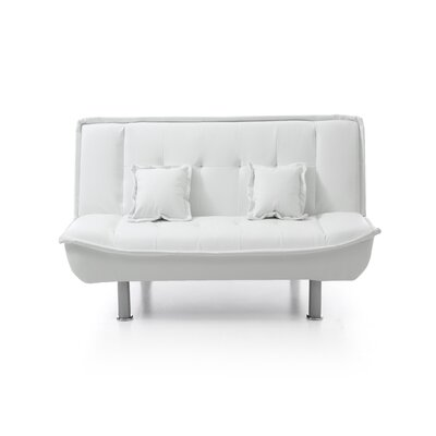 Hertford Sleeper Loveseat Upholstery: White Pu