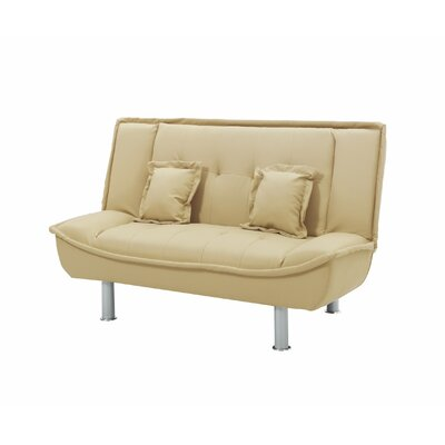 Ripalda Sleeper Loveseat Upholstery: Tan Pu