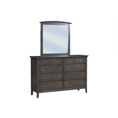 Lignite 8 Drawer Double Dresser Color: Gray