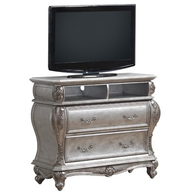 Armitage 2 Drawers Chest Color: Antiqued Silver