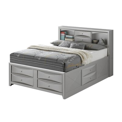 Medford Platform Bed Size: Queen, Color: Silver