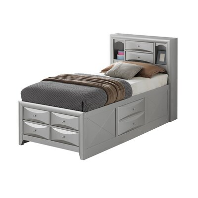 Medford Platform Bed Size: Twin, Color: Silver