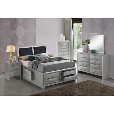 Medford Storage Upholstered Platform Bed Size: Full, Color: Silver