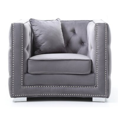 Smollin Barrel Chair Upholstery: Gray