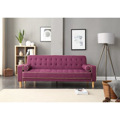 Shayne Convertible Sofa Upholstery: Berry