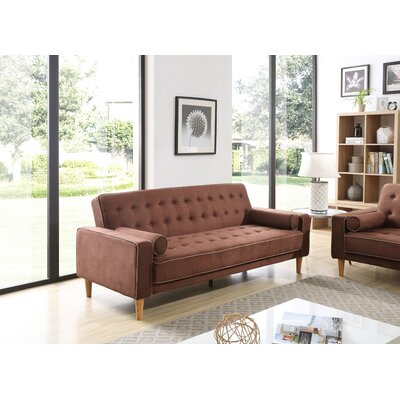 Shayne Convertible Sofa Upholstery: Chocolate