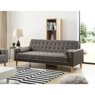 Shayne Convertible Sofa Upholstery: Dark Gray