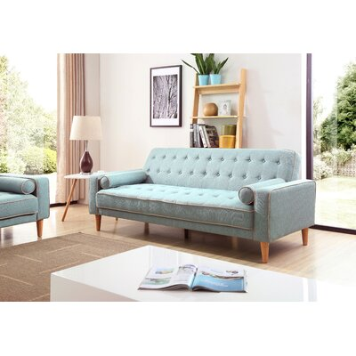 Shayne Convertible Sofa Upholstery: Light Blue