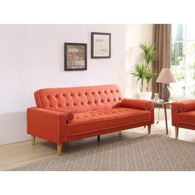 Shayne Convertible Sofa Upholstery: Orange