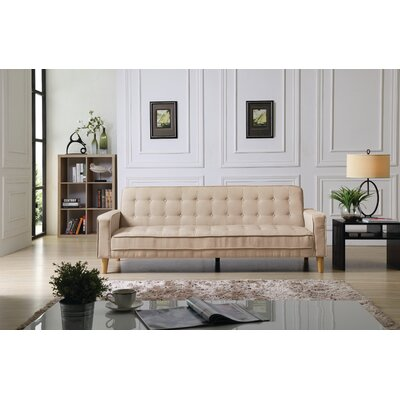 Shayne Convertible Sofa Upholstery: Tan Fabric