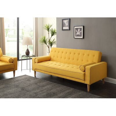 Shayne Convertible Sofa Upholstery: Yellow