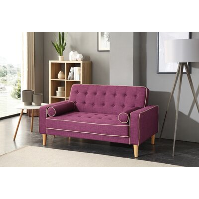 Shayne Convertible Loveseat Upholstery: Berry