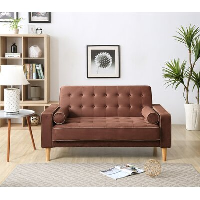 Shayne Convertible Loveseat Upholstery: Chocolate