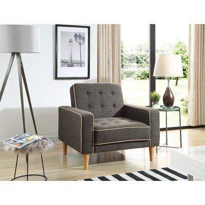 Shayne Convertible Chair Upholstery: Dark Gray