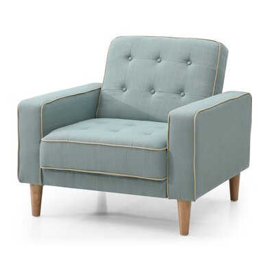 Shayne Convertible Chair Upholstery: Light Blue