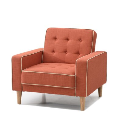 Shayne Convertible Chair Upholstery: Orange