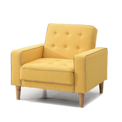 Shayne Convertible Chair Upholstery: Yellow