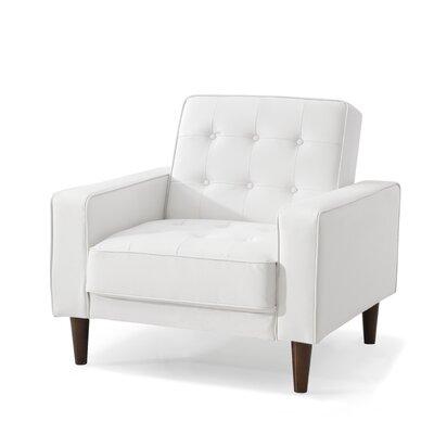 Shayne Armchair Upholstery: White