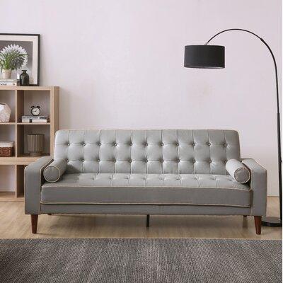 Shayne Convertible Sofa Upholstery: Gray
