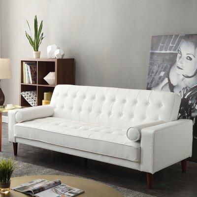 Shayne Convertible Sofa Upholstery: White
