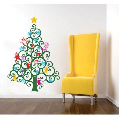 Happy Christmas Tree Wall Decal